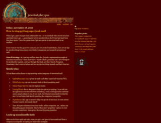 jeweledplatypus.org screenshot