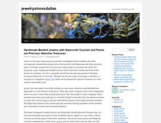 jewelrystoresdallas.wordpress.com screenshot