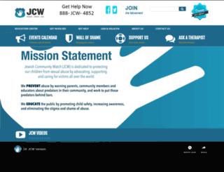 jewishcommunitywatch.org screenshot