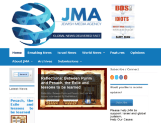 jewishmediaagency.com screenshot