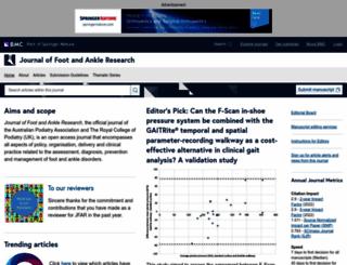 jfootankleres.biomedcentral.com screenshot