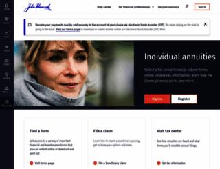 jhannuities.com screenshot