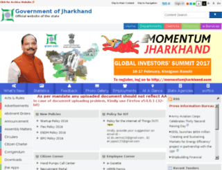 jharkhand.nic.in screenshot