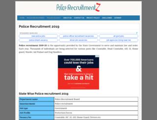 jharkhand.policerecruitments.in screenshot