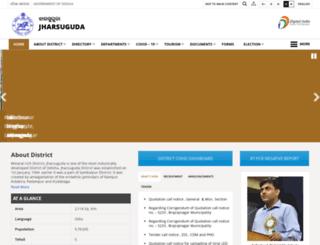 jharsuguda.nic.in screenshot
