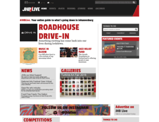 jhblive.co.za screenshot