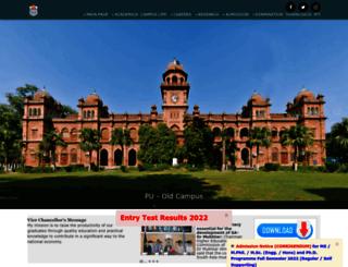 jhelum.pu.edu.pk screenshot