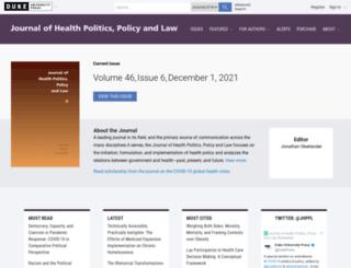 jhppl.dukejournals.org screenshot
