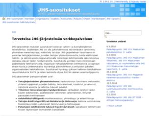 jhs-suositukset.fi screenshot