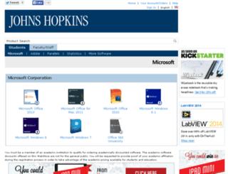 jhu.onthehub.com screenshot
