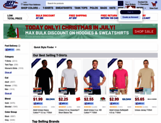 jiffyshirts.com screenshot