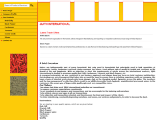 jijithinternational.tradeindia.com screenshot