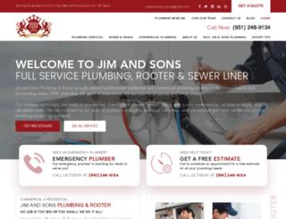jimandsonsplumbing.com screenshot