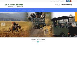 jimcorbetthotels.net screenshot
