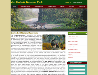 jimcorbettnationalpark.com screenshot
