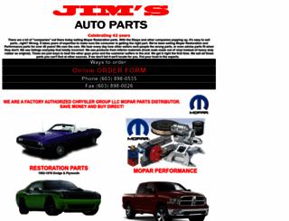 jimsautoparts.com screenshot