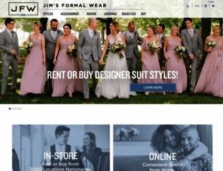 jimsformalwear.com screenshot