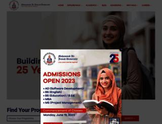 jinnah.edu screenshot