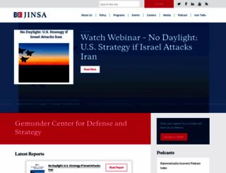 jinsa.org screenshot