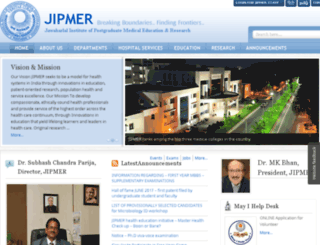 jipmer.edu screenshot