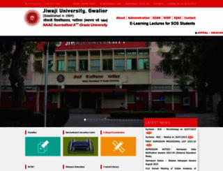jiwaji.edu screenshot