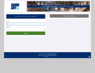 jjay.sona-systems.com screenshot