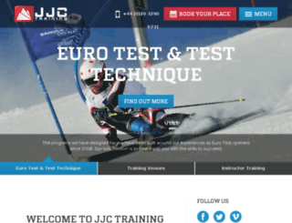 jjc-training.co.uk screenshot