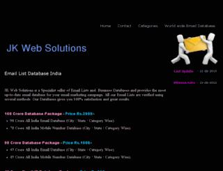 jkwebsolutions.jigsy.com screenshot