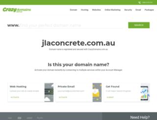 jlaconcrete.com.au screenshot