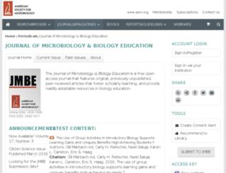 jmbe.asm.org screenshot