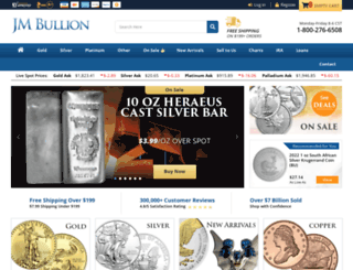 jmbullion.com screenshot