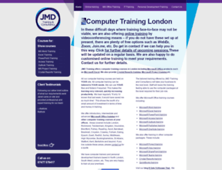 jmdtraining.co.uk screenshot