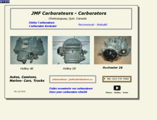 jmfcarburateurs.com screenshot