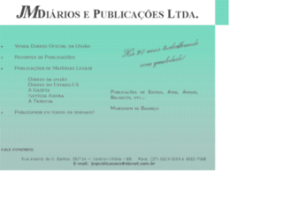 jmpublicacoes.com.br screenshot
