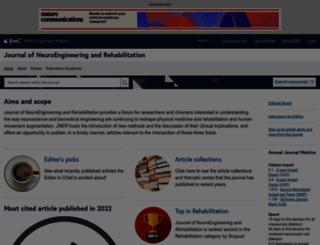 jneuroengrehab.com screenshot