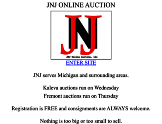 jnjonlineauction.com screenshot