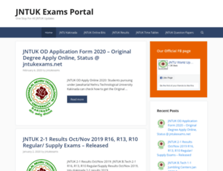 jntukexams.info screenshot