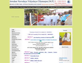 jnvchhatarpur.com screenshot