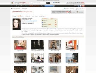 joannacrain.designshuffle.com screenshot