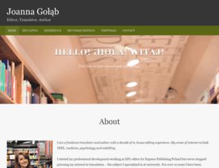 joannagolab.com screenshot