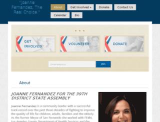 joannefernandez.nationbuilder.com screenshot