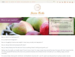 joannemarks.com.au screenshot