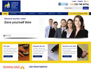 job-description.co.uk screenshot