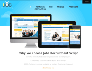 job-portal-script.com screenshot