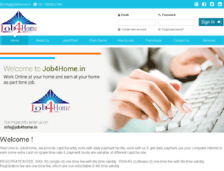 job4home.in screenshot