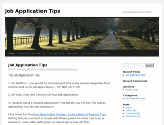 jobapplicationtipsblog.com screenshot