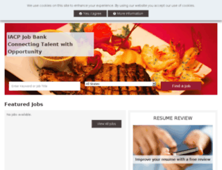 jobbank.iacp.com screenshot