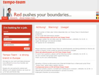 jobboerse.tempo-team.com screenshot