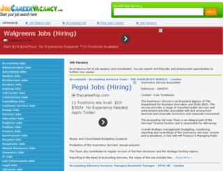 jobcareervacancy.com screenshot