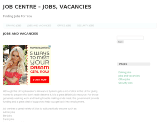 jobcentrejobvacancies.org.uk screenshot